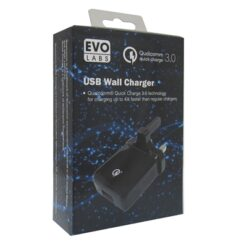 Evo Labs 3A Qualcomm Quick Charge 3.0 USB Wall Charger