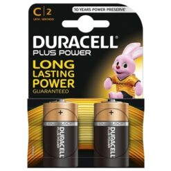 Duracell Plus Power Alkaline Pack of 2 C Batteries