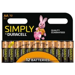 Duracell Simply Alkaline Pack of 12 AA Batteries