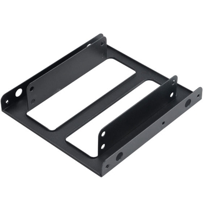 "Akasa Dual 2.5 SSD / HDD Adapter Mount Fit 2 x 2.5"" in a 3.5"" bay"