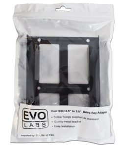 "Evo Labs Dual Metal SSD/HDD 2.5"" to 3.5"" Drive Bay Adapter"