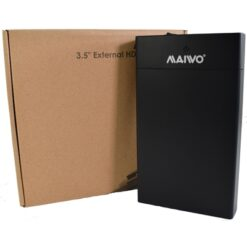 "Maiwo USB 3.0 3.5"" External Hard Drive Enclosure  with Power Adapter"