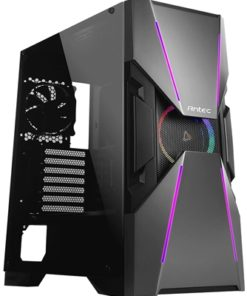 Antec Dark Avenger DA601 Full Tower 2 x USB 3.0 Tempered Glass Side Window Panel Black & Gunmetal Case with Addressable RGB LED Fan and Light Strips