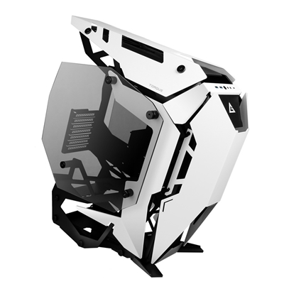 Antec Torque Full Tower 2 x USB 3.0 / 1 x USB 3.1 Type-C Tempered Glass Side Window Panels Black & White Open Airflow Design Case