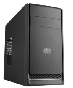 Cooler Master MasterBox E300L Micro Tower 2 x USB 3.0 Black Case with Silver Trim