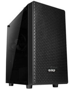 Cronus Iris Micro Tower 1 x USB 3.0 / 2 x USB 2.0 Acrylic Side Window Panel & Front Mesh Black Case