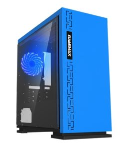 Game Max Expedition Blue Micro Tower 1 x USB 3.0 / 2 x USB 2.0 Side Window Panel Blue Case with Blue LED Fan