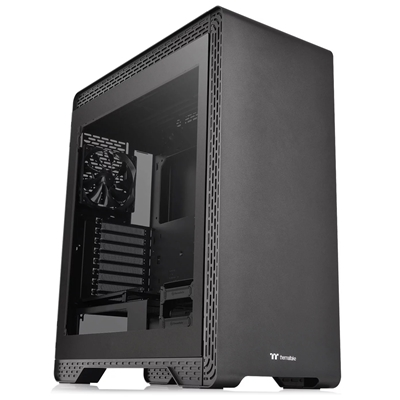 Thermaltake S500 TG Mid Tower 2 x USB 3.0 / 2 x USB 2.0 Tempered Glass Side Window Panel Black Case