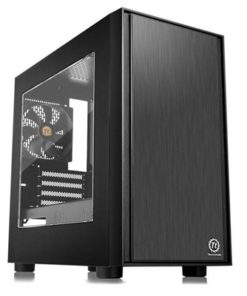 Thermaltake Versa H17 Micro Tower 1 x USB 3.0 / 2 x USB 2.0 Acrylic Side Window Panel Black Case