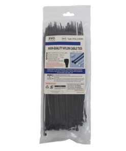Evo Labs Black Cable Ties 200 x 2.5mm 100 Pack