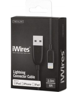 iWires Black 2m USB to Lightning Cable