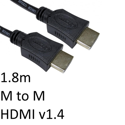 HDMI 1.4 (M) to HDMI 1.4 (M) 1.8m Black OEM Display Cable