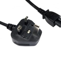 UK Mains to Clover C5 5 Amp 1.8m Black OEM Power Cable