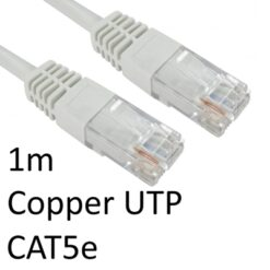 RJ45 (M) to RJ45 (M) CAT5e 1m White OEM Moulded Boot Copper UTP Network Cable