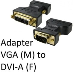 VGA (M) to DVI-A (F) Black OEM Adapter
