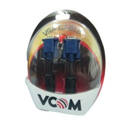 VCOM VGA (M) to VGA (M) 5m Black Retail Packaged Display Cable