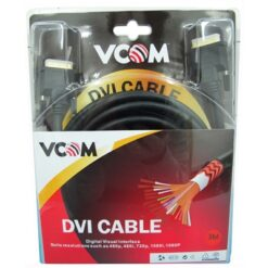 VCOM DVI-D (M) to DVI-D (M) 3m Black Retail Packaged Display Cable