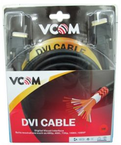 VCOM DVI-D (M) to DVI-D (M) 5m Black Retail Packaged Display Cable