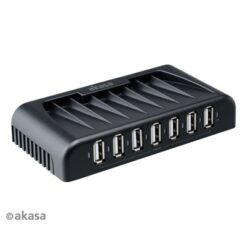 Akasa Connext 7+ 7 Port USB 2.0 Hub with Power Adapter