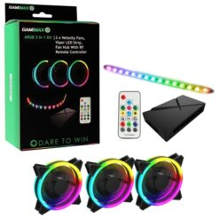 GameMax Addressable RGB 3-in-1 Kit with 3 Velocity Fans