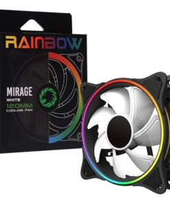 GameMax Mirage White Fins 120mm 1100RPM Addressable RGB LED Fan