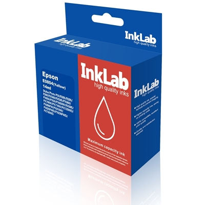InkLab 804 Epson Compatible Yellow Replacement Ink