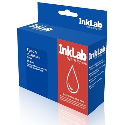 InkLab 33 XL Epson Compatible Cyan Replacment Ink
