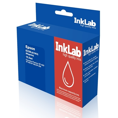 InkLab 33 XL Epson Compatible Magenta Replacment Ink