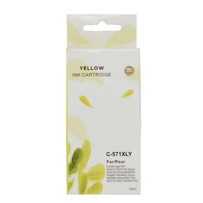 CLI571 Canon Compatible Yellow Replacement Ink