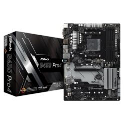 ASRock B450 Pro4 AMD Socket AM4 ATX VGA/HDMI/DisplayPort DDR4 USB C 3.1 Motherboard