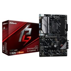 ASRock X570 Phantom Gaming 4 AMD Socket AM4 ATX HDMI/DisplayPort Dual M.2 USB 3.2 Motherboard