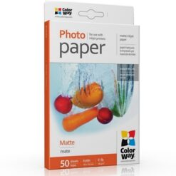 ColorWay Matte 6x4 190gms Photo Paper 50 Sheets