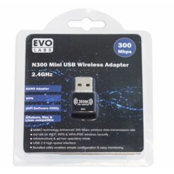 Evo Labs N300 Wireless N Mini USB Wi-Fi Network Adapter