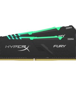 Kingston HyperX Fury RGB 16GB Black Heatsink (2x8GB) DDR4 2666MHz DIMM System Memory