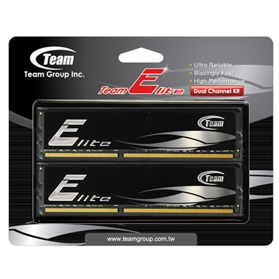 Team Elite 8GB Black Heatsink (2 x 4GB) DDR3 1600MHz DIMM System Memory