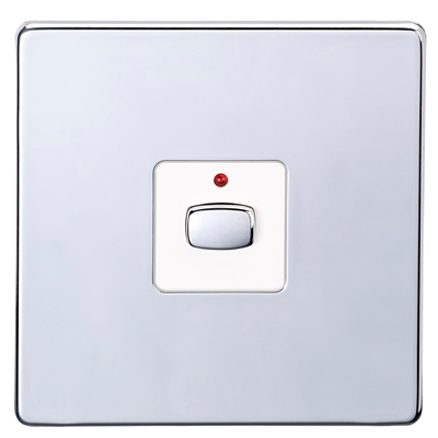 MiHome Smart Polished Chrome 1 Gang Dimmer