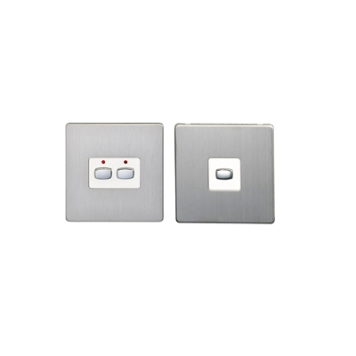 Energenie MIHO093 Energenie MiHome 2-Gang Light Switch Steel