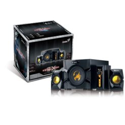 Genius GX Gaming SW-G 2.1 3000 Black & Gold Gaming Speaker System
