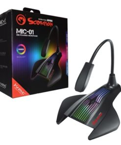 Marvo Scorpion MIC-01 USB RGB LED Black Gaming Microphone