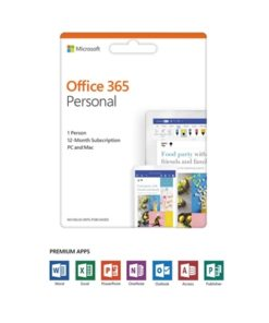 Office 365 Personal 2019 English EuroZone Subscription 1 Year Medialess