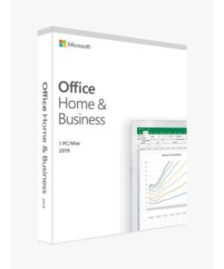 Microsoft Office 2019 Home and Business English Medialess Software