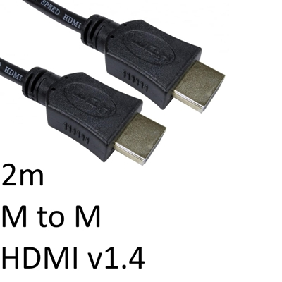 HDMI 1.4 (M) to HDMI 1.4 (M) 2m Black OEM Display Cable