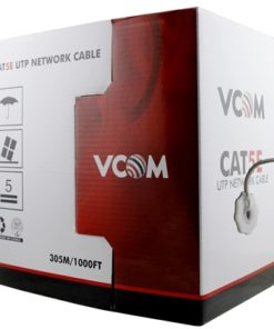 VCOM CAT5e UTP 305m Black Retail Packaged Reel Box 24AWG 4 Pairs Solid Full Copper Outdoor Network Cable