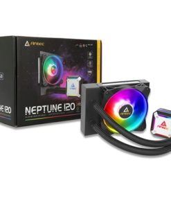 Antec Neptune 120 Universal Socket 120mm PWM 1600RPM ARGB LED AiO Liquid CPU Cooler with Wired ARGB Fan Controller