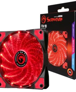 Marvo Scorpion FN-10 Red 120mm 1200RPM Red LED Fan