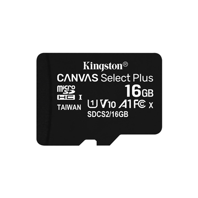 Kingston Canvas Select Plus 16GB Micro SD UHS-I Flash Card No Adapter