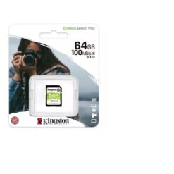 Kingston Canvas Select Plus  V30 64GB SD Class 10 UHS-I U3 Flash Card