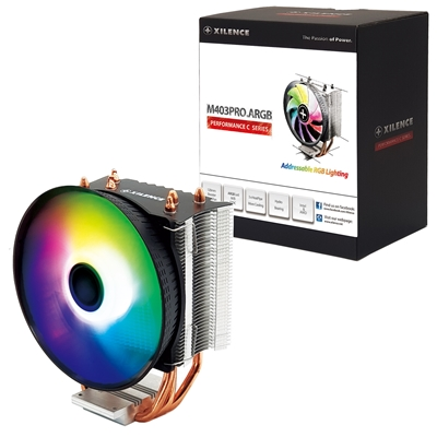 Xilence M403PRO.ARGB Universal Socket 120mm PWM 1800RPM Addressable RGB LED Fan CPU Cooler