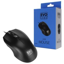 Evo Labs MO-128 USB Matte Black Mouse