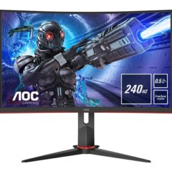 "AOC C27G2ZE/BK 27"" LED Widescreen HDMI/ DisplayPort Freesync 0.5ms Frameless Curved Monitor"